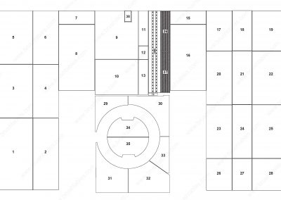 AMADA EMLK-3610 TURRET REPLACEMENT BRUSH PANELS LAYOUT DIAGRAM