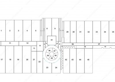 PRIMA-POWER SGe6 REPLACEMENT BRUSH PANELS LAYOUT DIAGRAM