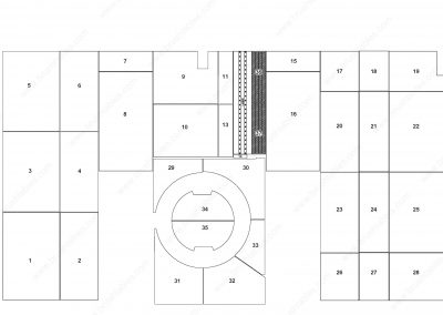 Amada EMLK-3510 REPLACEMENT BRUSH PANELS LAYOUT DIAGRAM