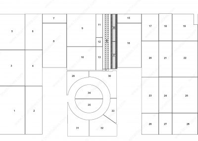 Amada EMLZ-3610 REPLACEMENT BRUSH PANELS LAYOUT DIAGRAM