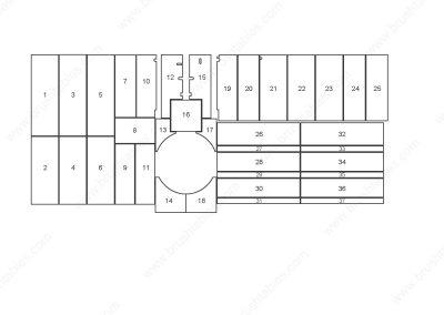 FINN-POWER C5 S TURRET REPLACEMENT BRUSH PANELS LAYOUT DIAGRAM