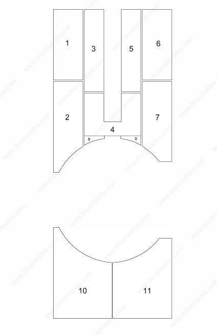 LVD STRIPPIT VERONA V20-1225 TURRET REPLACEMENT BRUSH PANELS LAYOUT DIAGRAM